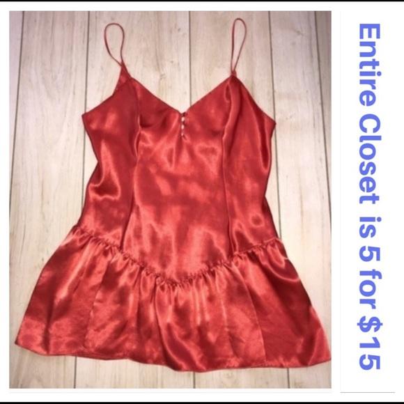 Victoria's Secret Other - Victoria's Secret Orange Gold Label Satin Chemise